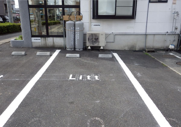 店舗駐車場ライン塗替え