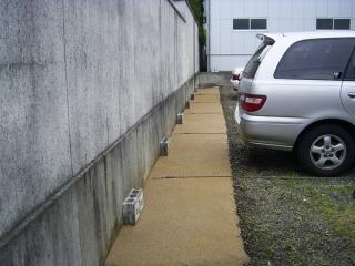 駐車場の真砂土舗装